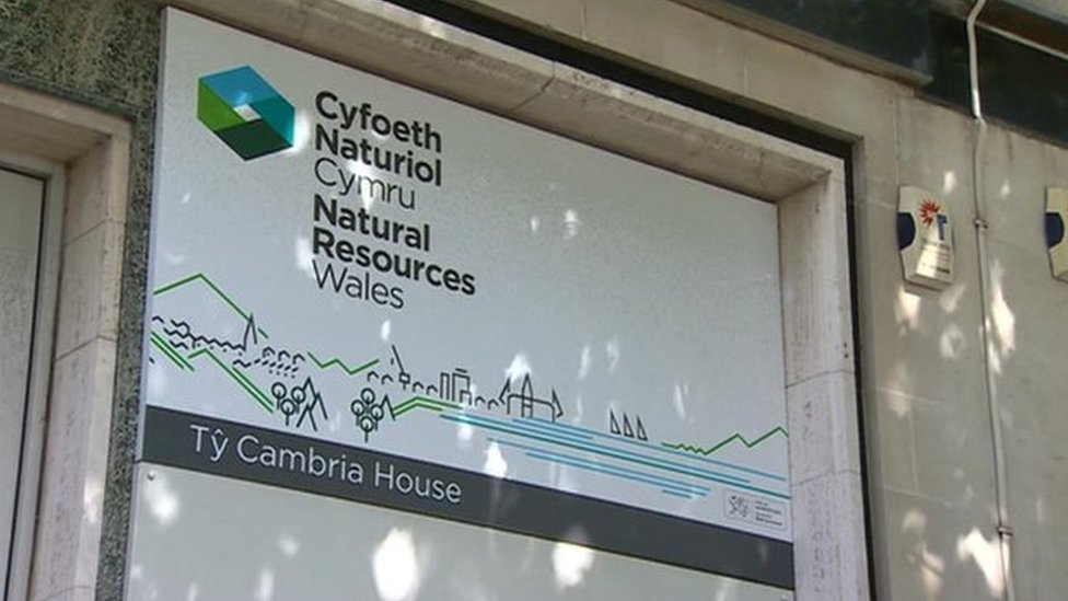 Natural Resources Wales sign