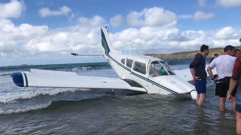 Aircraft crashed into the sea