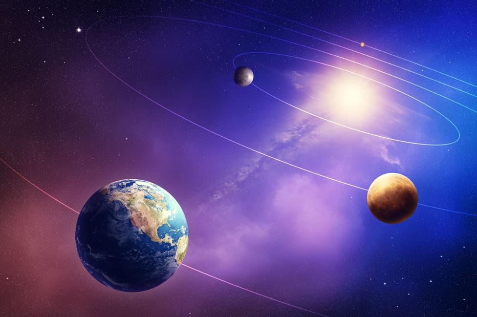 La Tierra, Venus y Mercurio