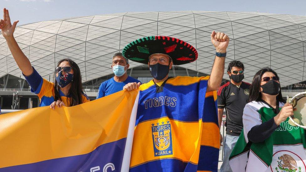مشجع مكسيكي.