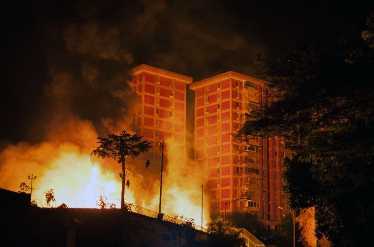 Incendio en subestación de Caracas.
