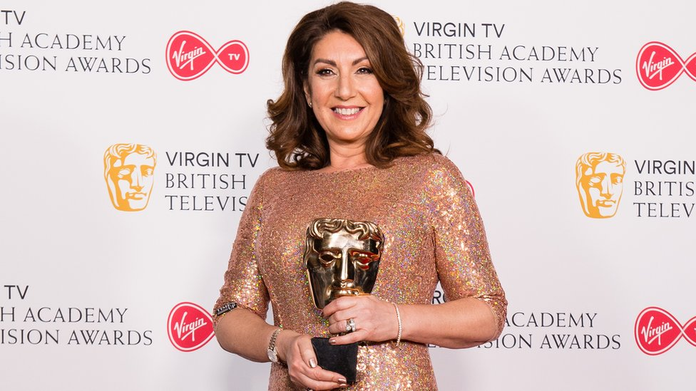 Jane with her BAFTA