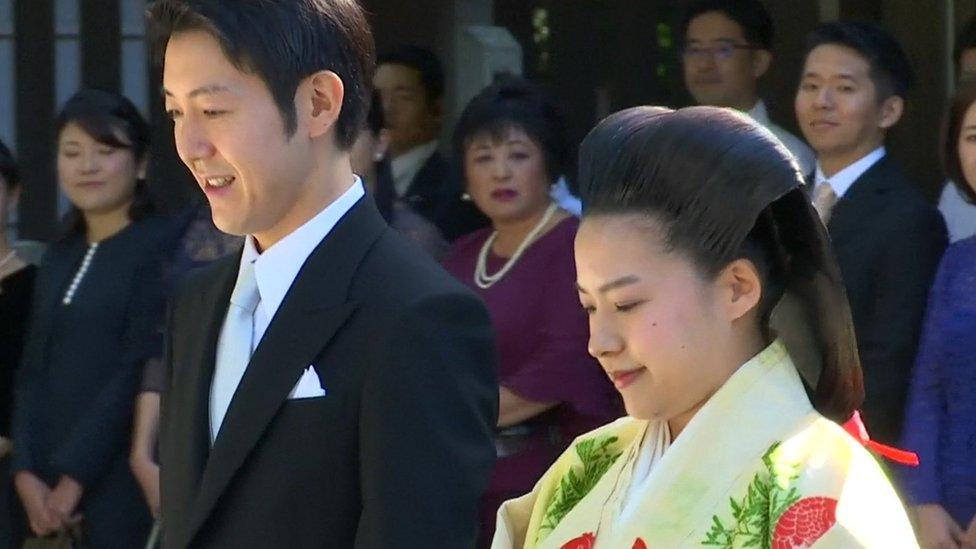 Boda de la princesa Ayako y Kei Moriya.