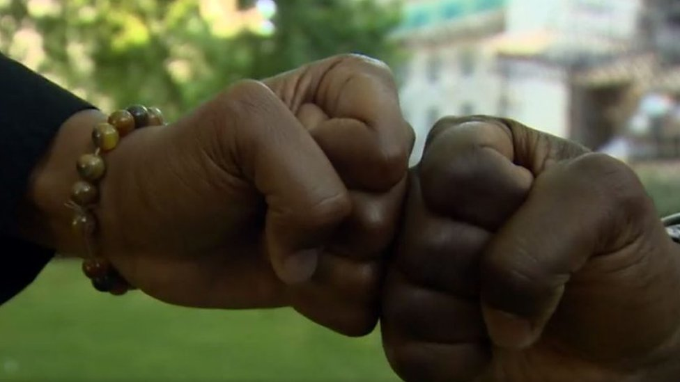 Two brothers went viral after being detained following a fist bump