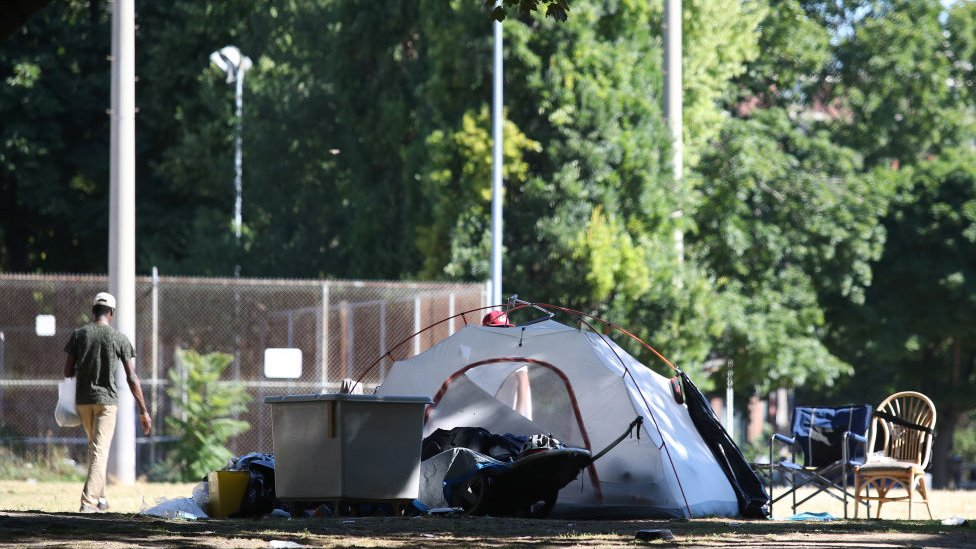 Tiendas de personas sin hogar en Canadá.