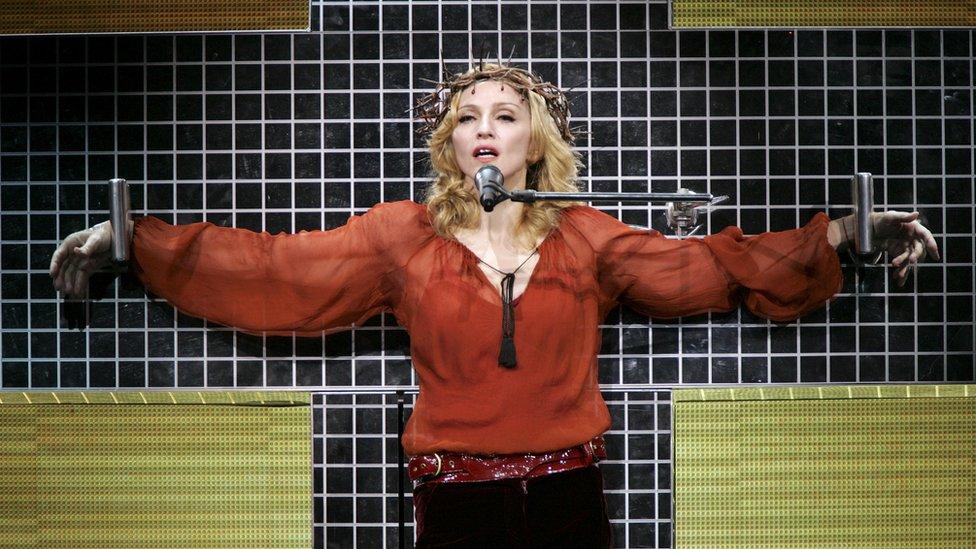 Madonna en la cruz