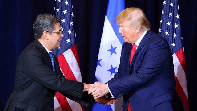 Juan Orlando Hernández y Donald Trump