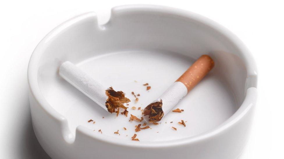 ikiye kırılmış bir sigara.