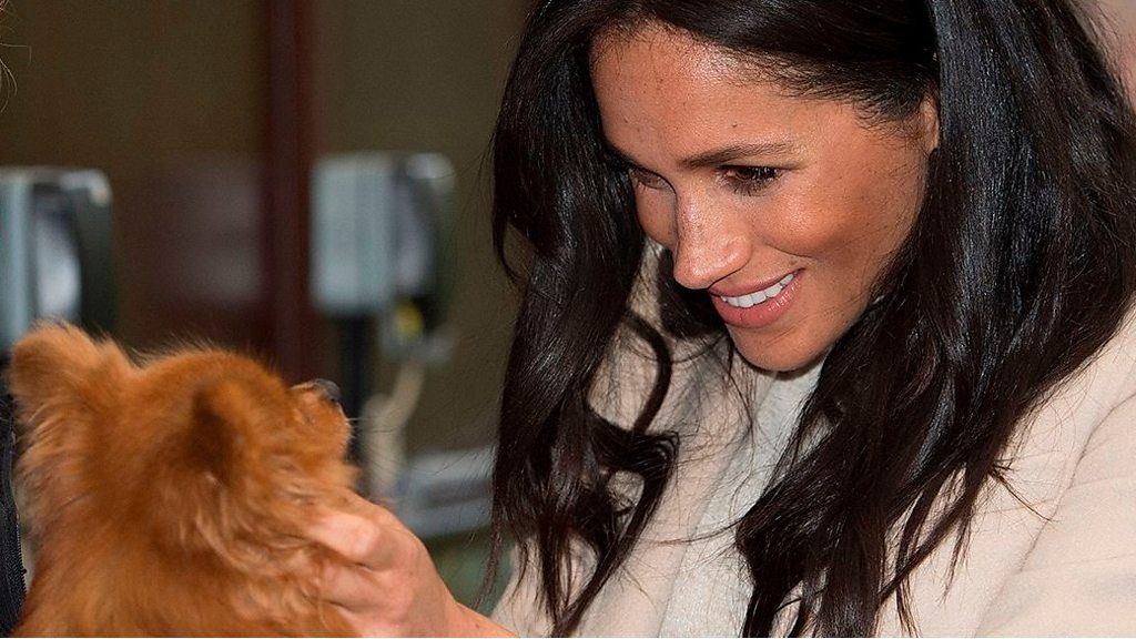 Pregnant Meghan laughs off 'fat lady' comment