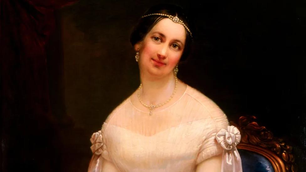 Julia Tyler parece una princesa en su retrato: como primera dama, también actuó como tal.