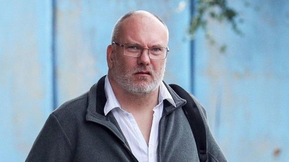 Peter Hartley, 50, arriving at Aylesbury Crown Court