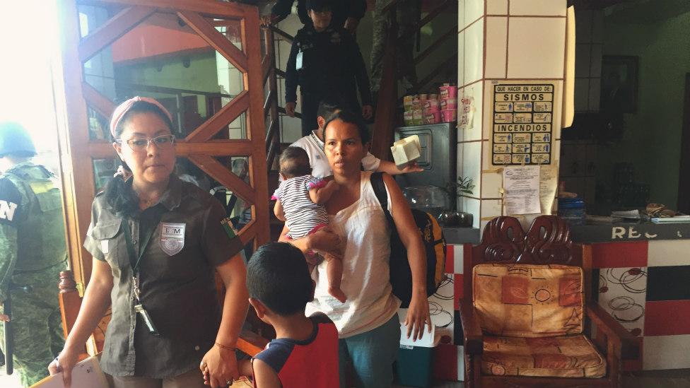 Redada en hotel de Tapachula.