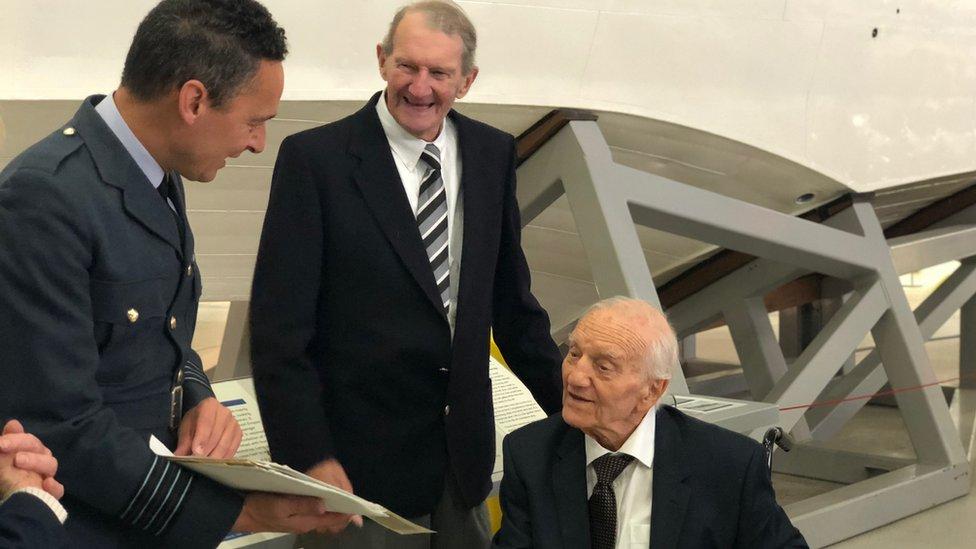 WW2 'dementia' pilot relives memories with Duxford visit