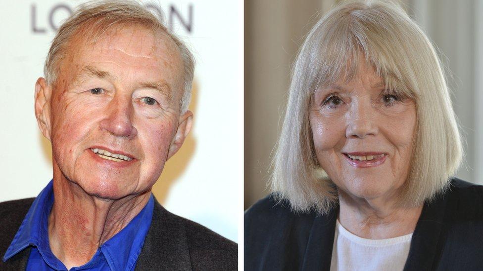 Sir Terence Conran and Dame Diana Rigg