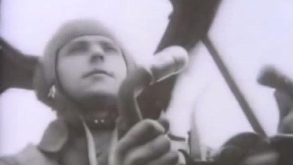 Gunter Unger in his plane
