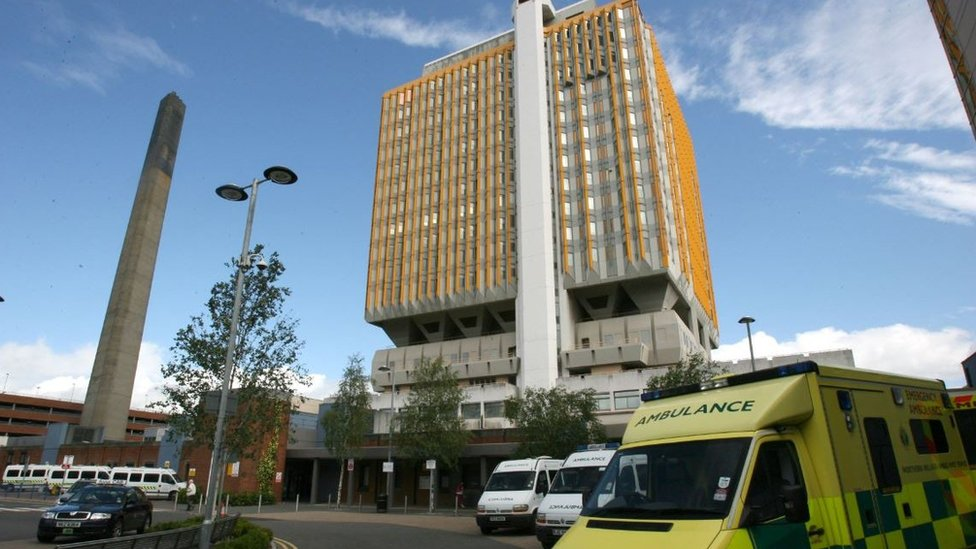 Belfast City Hospital tower block