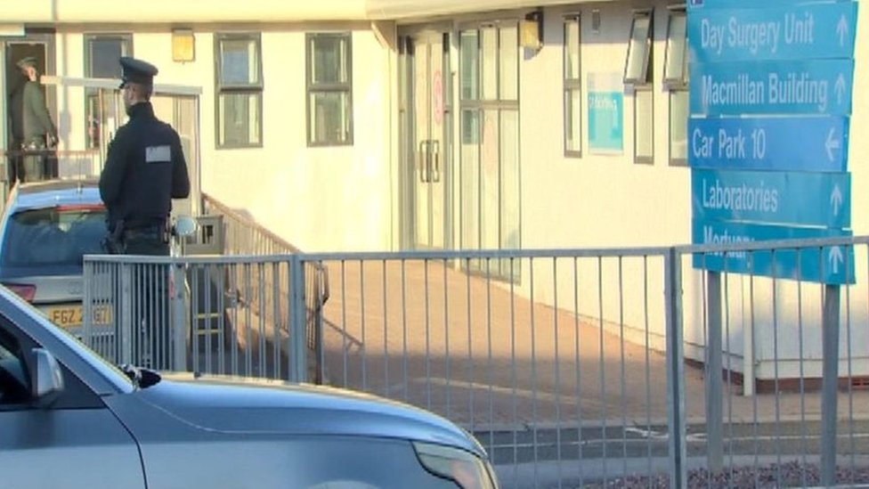 Police attended an incident at an out-of-hours surgery on the Craigavon area hospital site