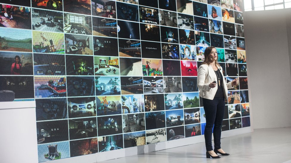 Adrienne Mccallister, Director of VR/AR Business Development at Google Inc., speaks during an event to introduce the Google Pixel phone and other Google products on October 4, 2016 in San Francisco, California.