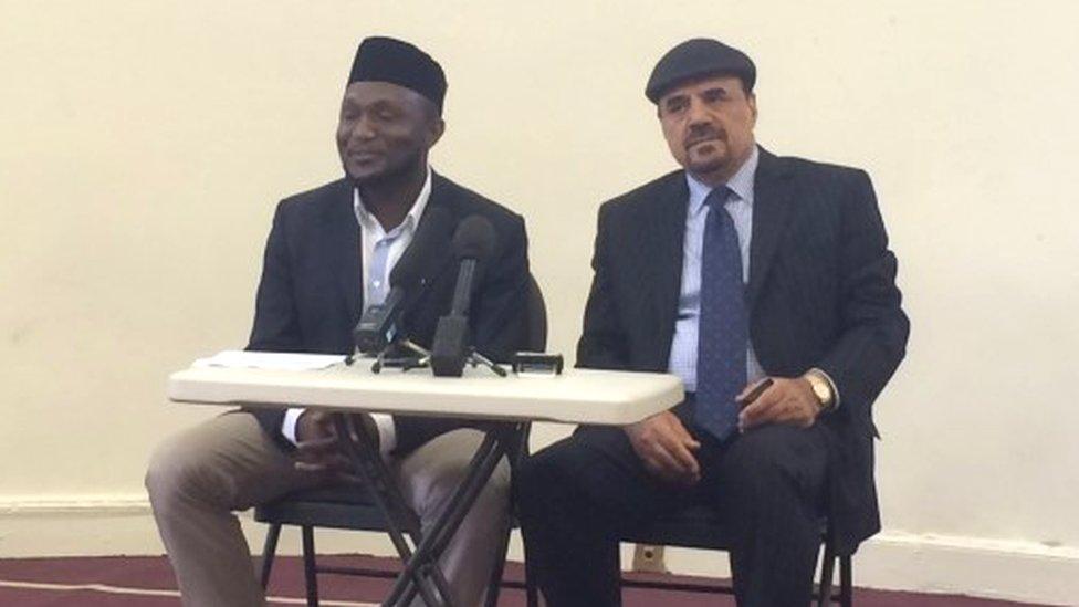 Ahmadiyya Muslim leaders in Glasgow