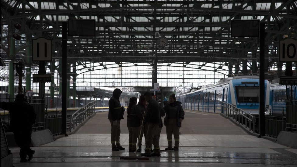 محطة قطارات في الأرجنتين