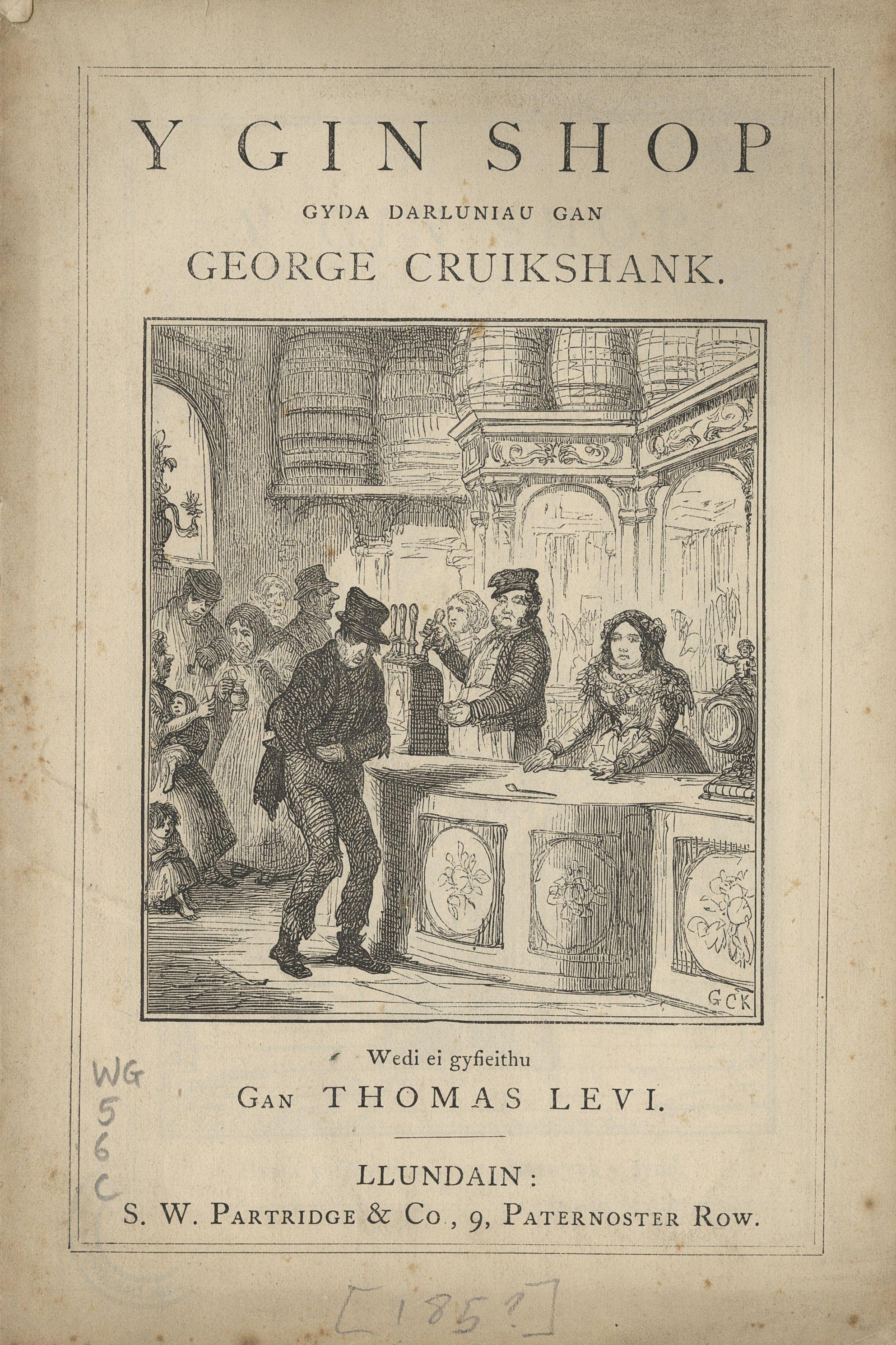 """Pamffled dirwest - """"Y Gin Shop"""", 1850"""
