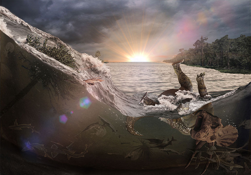 Gambaran naiknya permukaan air