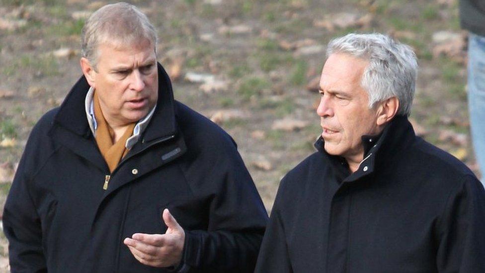 El príncipe Andrés y Jeffrey Epstein en Nueva York.
