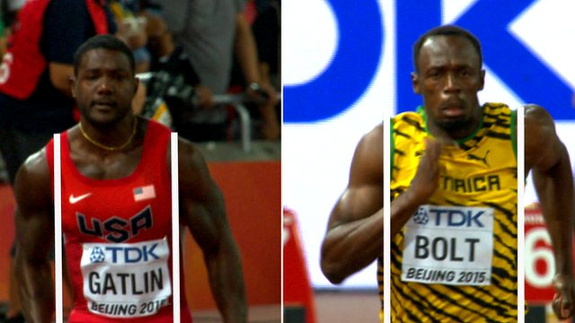 Justin Gatlin and Usain Bolt