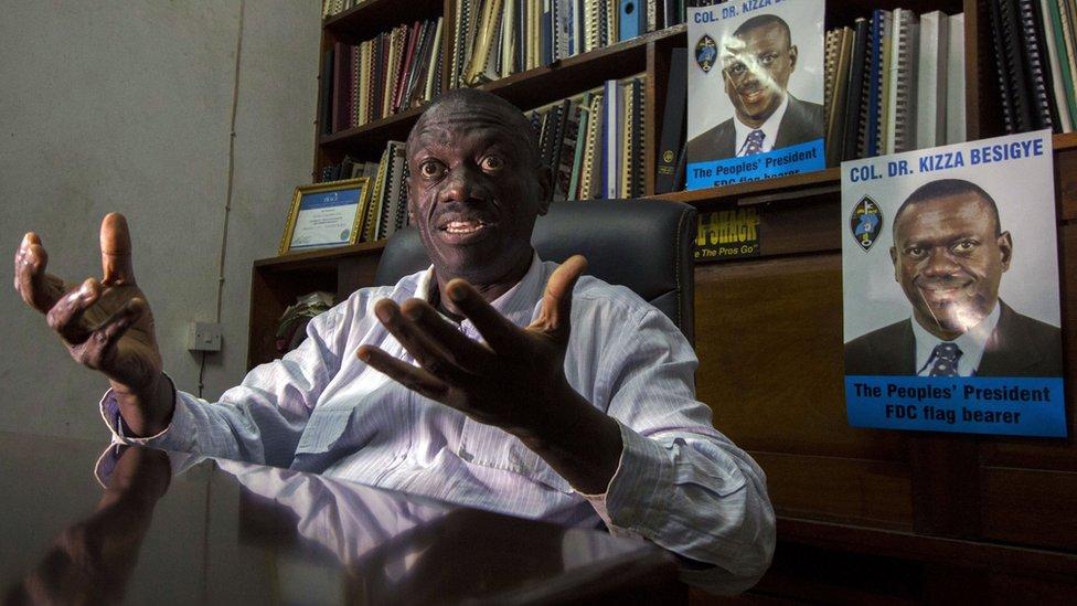 Uganda's key opposition leader Kizza Besigye