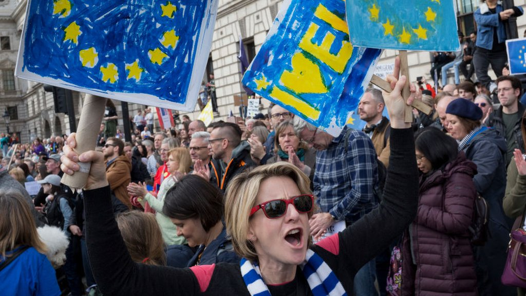 Brexit march: Million joined Brexit protest, organisers say