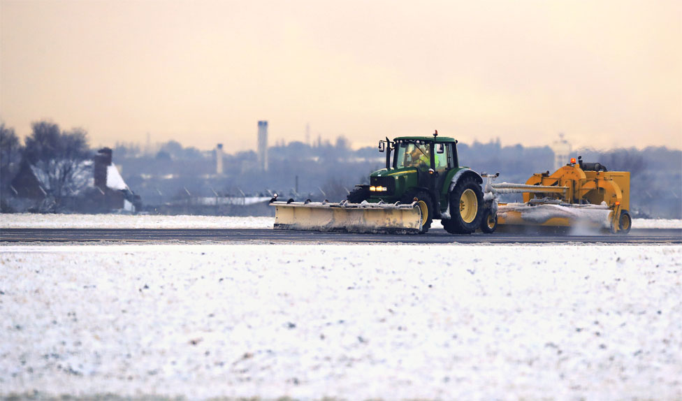 Snow plough at Liverpool John Lennon Airport