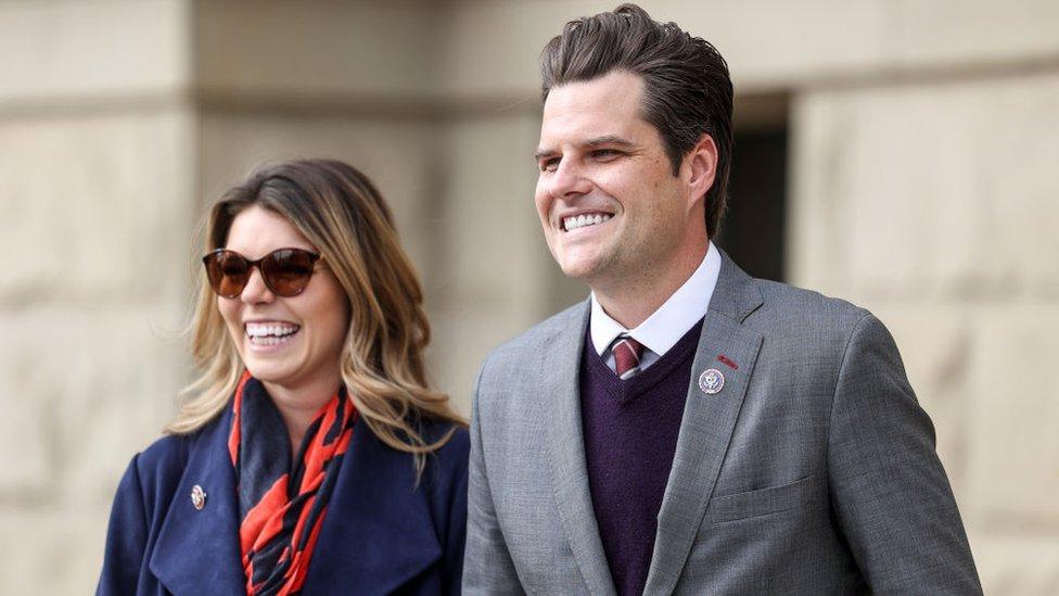 Matt Gaetz e sua noiva