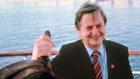 Swedish Prime Minister Olof Palme pictured in the 1980s