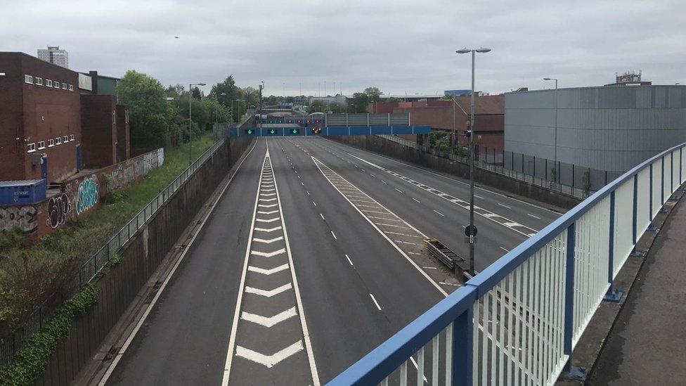 Empty Aston Expressway