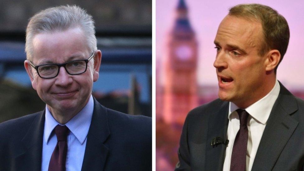 Tory leadership: Raab sets out leader bid as Gove joins race