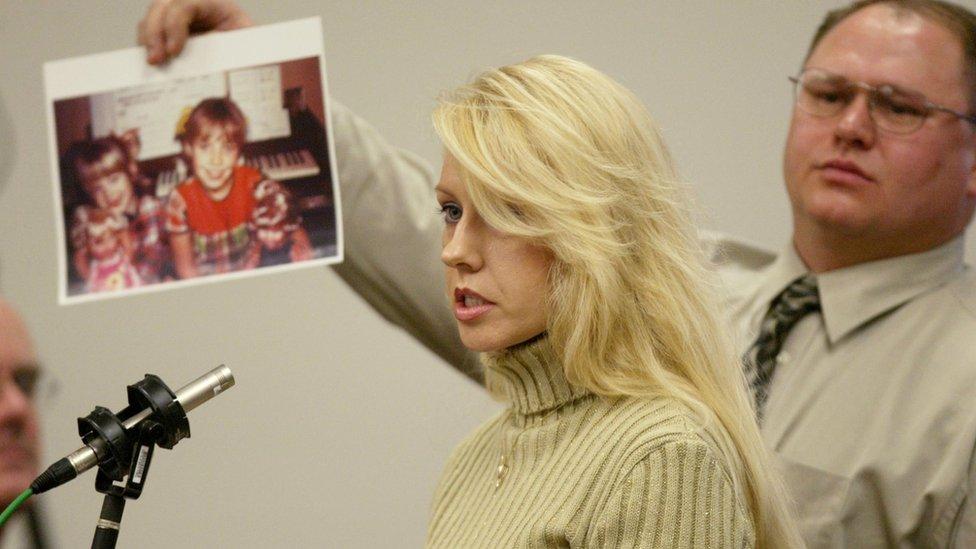 The sister of Green River Killer victim Debra Estes, speaks in court during the sentencing of Gary Ridgway