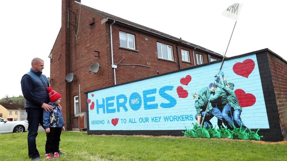 NHS mural in Glynn, County Antrim