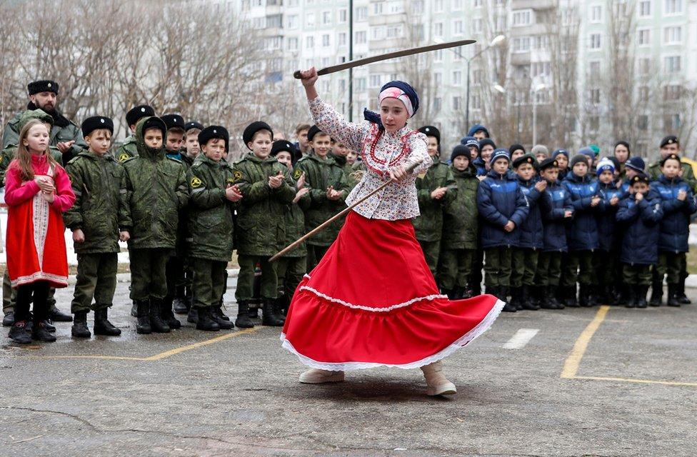 Učenica kadetske škole General Jermolov