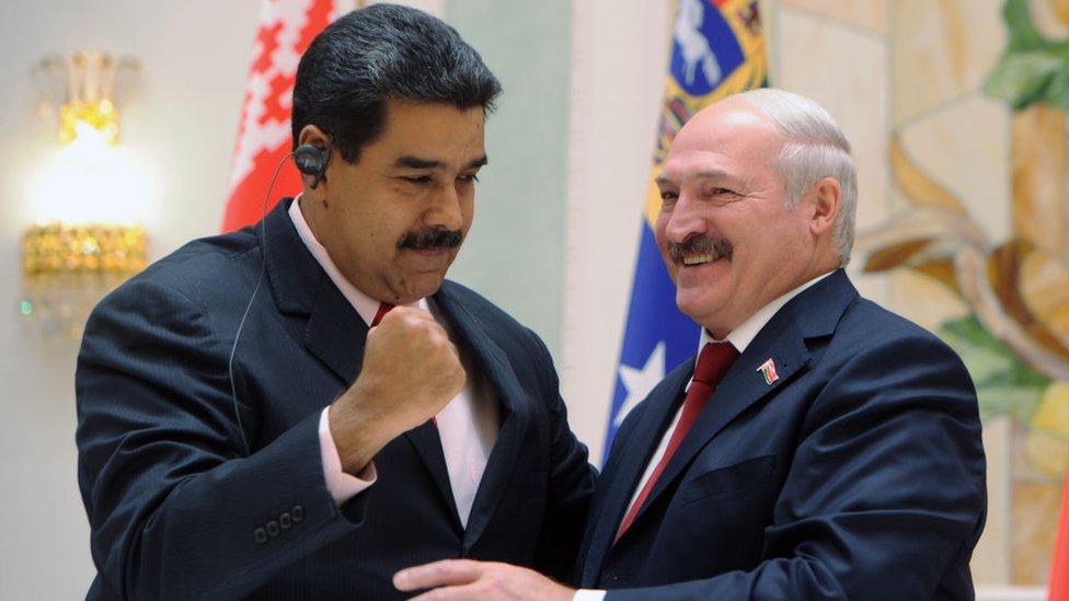 Nicolás Maduro y Aleksandr Lukashenko