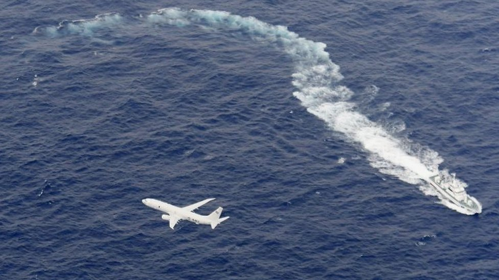 US Navy aircraft and a Japanese vessel take part in the rescue operation. Photo: 6 December 2018