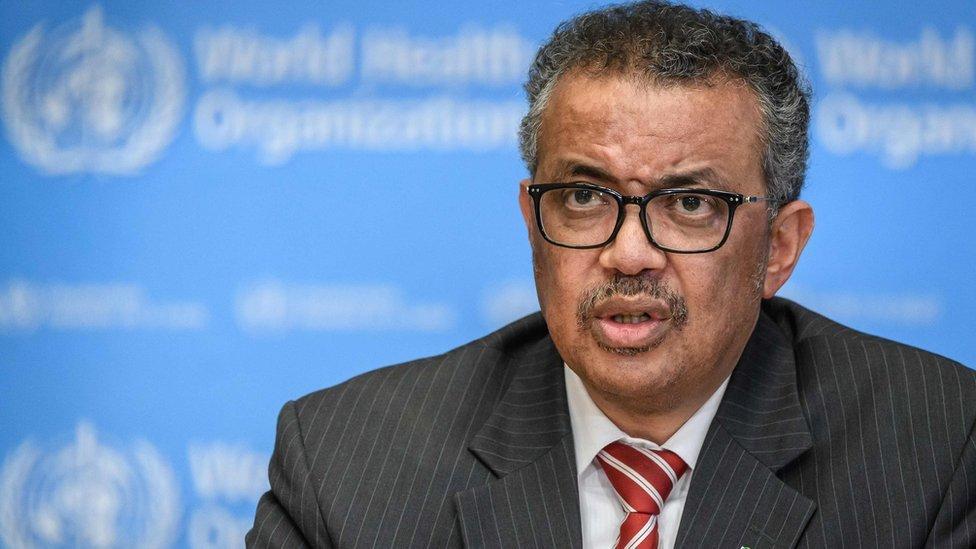 مدير عام منظمة الصحة العالمية تيدروس أدناهوم غيبريسوس
