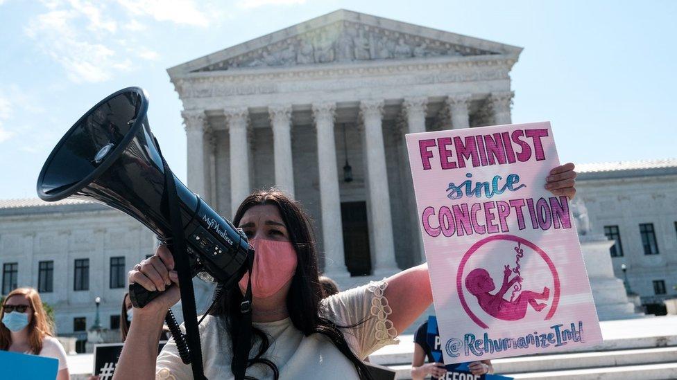 Manifestante anti-aborto.