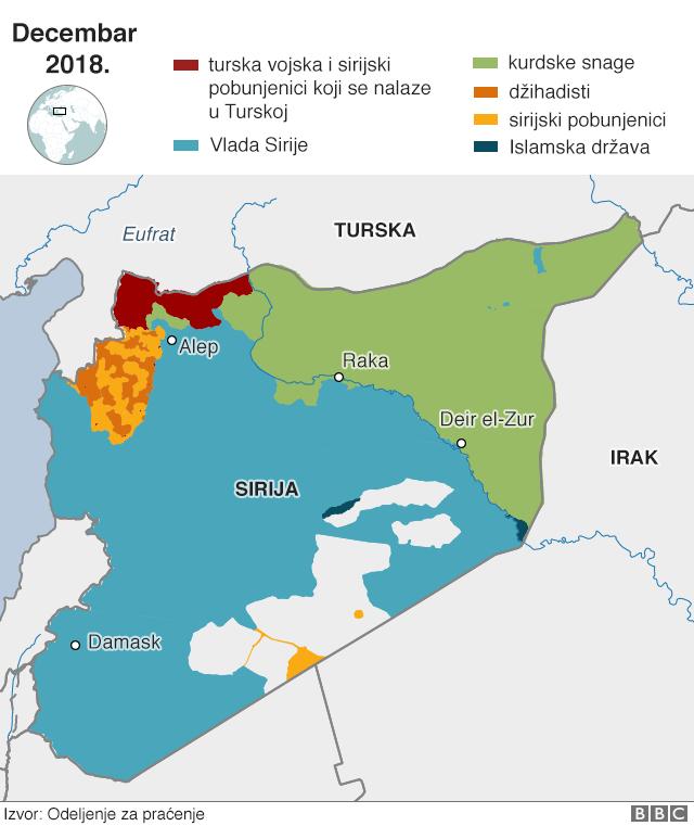mapa sirije i regiona