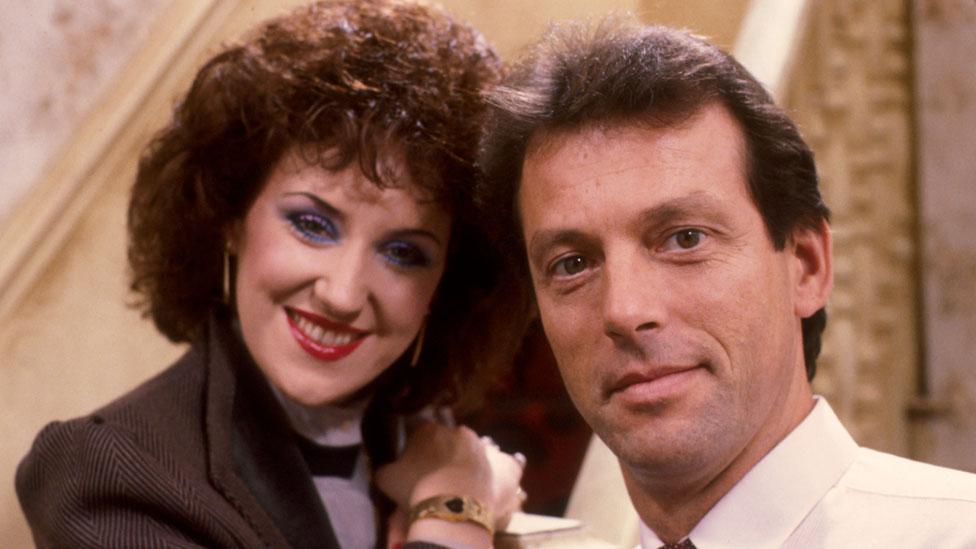 Leslie Grantham with Anita Dobson