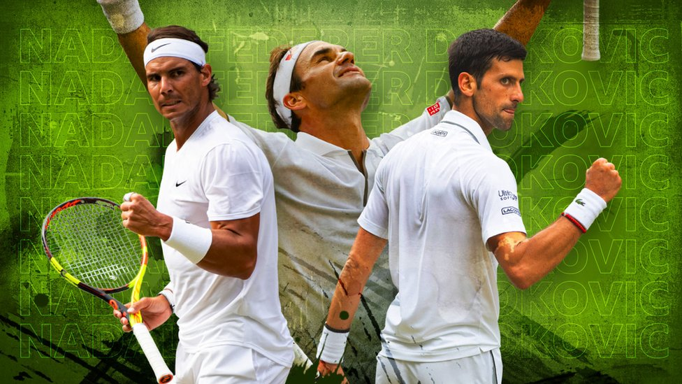 Nadal, Djokovic and Federer