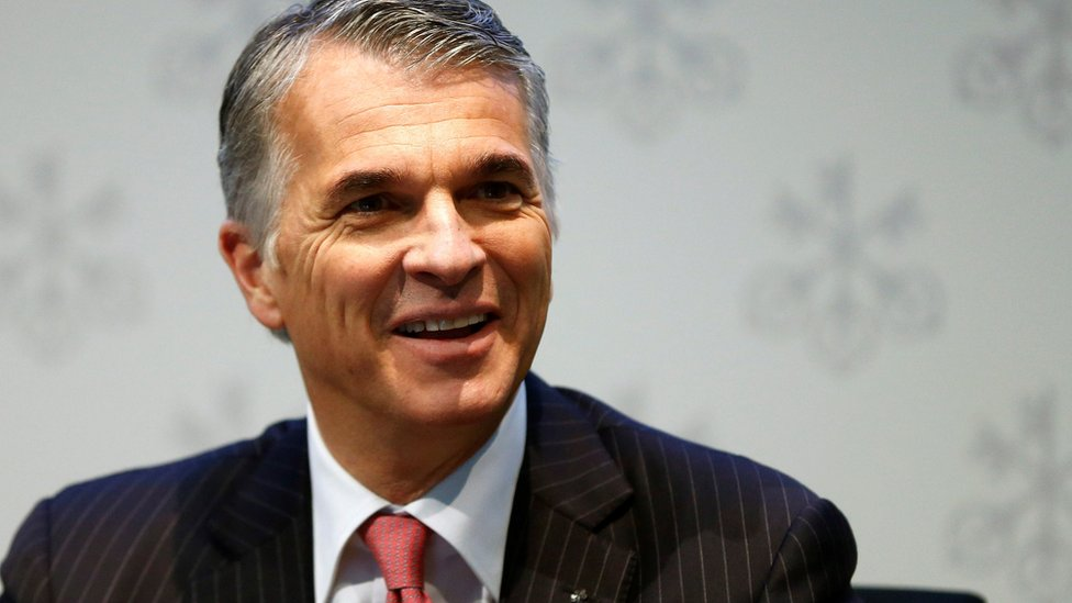CEO Sergio Ermotti of Swiss bank UBS smiles before an annual news conference in Zurich, Switzerland, 2 February 2016