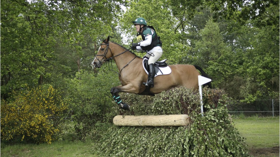 Neil Woodford riding his horse
