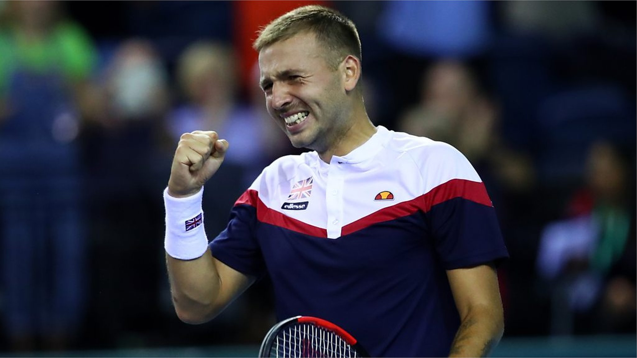 Davis Cup play-off GB v Uzbekistan - Best shots as Dan Evans beats Denis Istomin in epic match