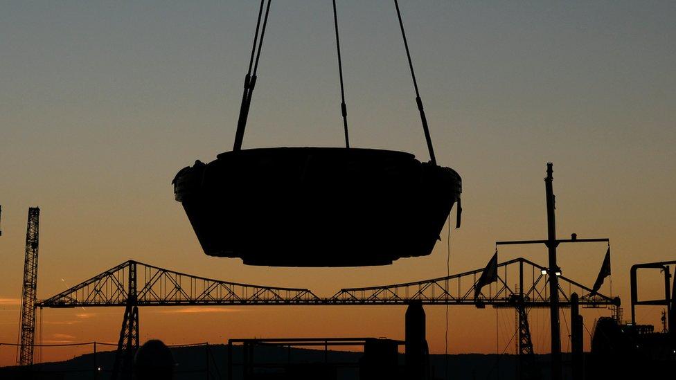 First Sirius Minerals tunnel boring machine arrives