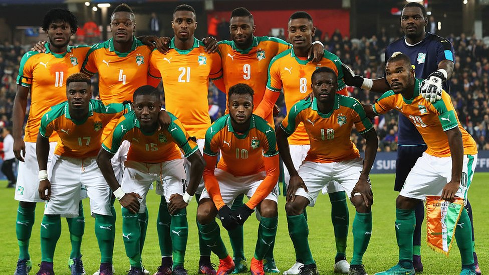 Ivory Coast team photo
